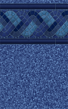 Blue Raleigh Tile - Blue Pebblestone Floor