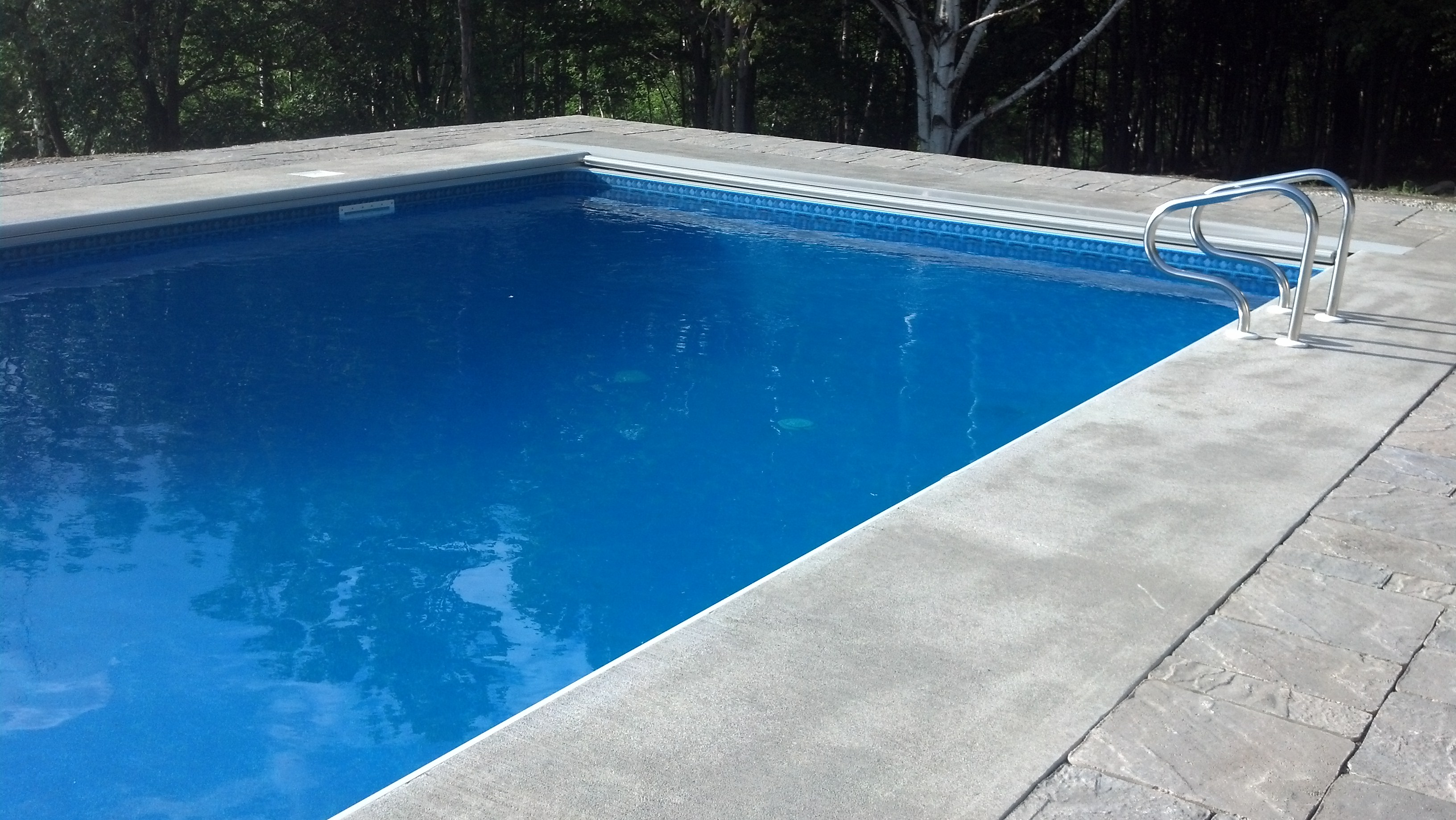 Rectangle Pool Aerial View photo gallery of installed pools – branon's pools