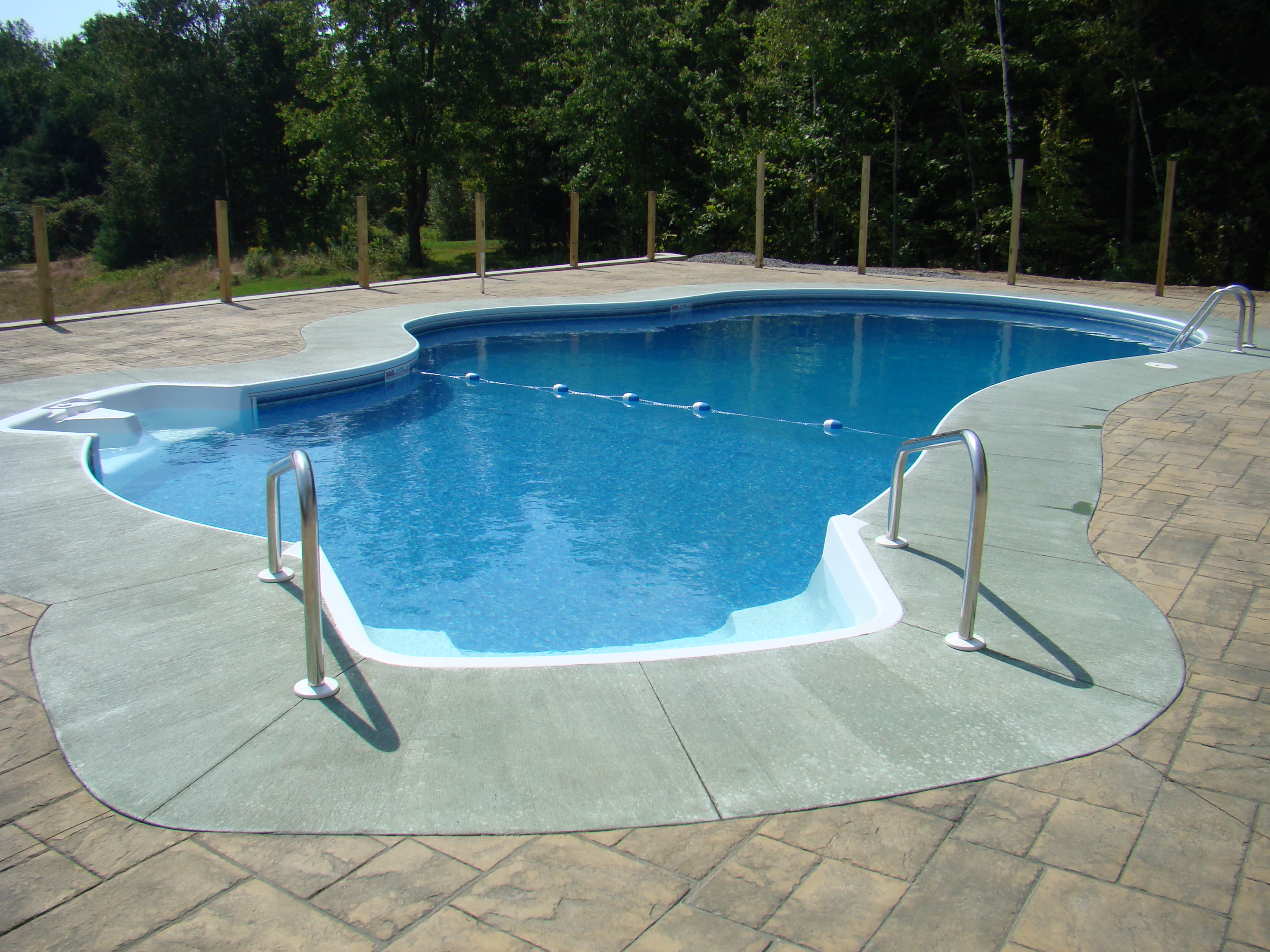 Fox pool 17 x 33 lagoon w buddy seat and 6 walk in stairs branon 39 s pools St albans swimming pool timetable